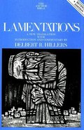 Lamentations (2nd Edition) (Anchor Yale Bible Commentaries Series)