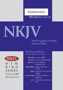 NKJV Pitt Minion Reference Bible Black Goatskin (Red Letter Edition) Genuine Leather
