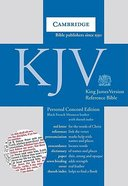 KJV Personal Concord Reference Black Indexed (Red Letter Edition) Morocco Leather (Sheepskin)