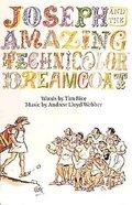 Webber Joseph & Amazing Technicolor Dreamcoat Vocal Score Paperback