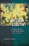 Mission Under Scrutiny Paperback