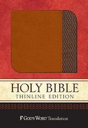 God's Word Thinline Saddle/Brown Imitation Leather
