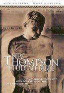 NIV Thompson Student Regular Brown Bonded Leather