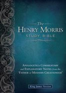 KJV the Henry Morris Study Bible Black Genuine Leather