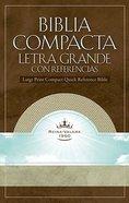 Biblia Compacta Letra Grande Co Referencias White Cold (Compact Refernce) Imitation Leather