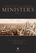 HCSB Minister's Bible Black Imitation Leather
