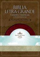 Biblia Letra Grande Tamano Manual Con Referencias Burgundy Imitation Leather