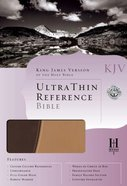 KJV Ultrathin Reference Duo-Tone Brown/Tan Imitation Leather