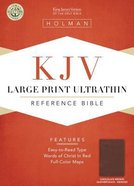 KJV Large Print Ultrathin Reference Bible Chocolate/Brown Indexed