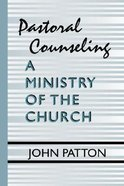 Pastoral Counseling Paperback