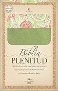 Biblia Plenitud Manual (Spanish)Green/Design (Plenitud Handy Size) Imitation Leather