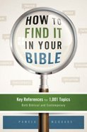 How to Find It in Your Bible Paperback