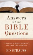 Answers to Your Bible Questions Paperback