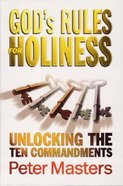 God's Rules For Holiness Paperback
