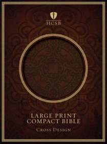HCSB Compact Large Print Dark Brown Cross Design