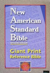 NASB Giant Print Reference Bible Indexed Burgundy