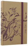 NIV Thinline Craft Bible Plum Floral (Red Letter Edition) Hardback