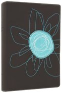 NIV Student Bible Espresso/Turquoise Flower Italian Duo-Tone Imitation Leather