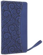 NIV Clutch Bible Blueberry Duo-Tone (Red Letter Edition) Imitation Leather