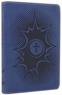 NIRV Backpack Bible Pow Blue Imitation Leather