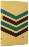 NKJV Compact Ultraslim Bible Tan/Brown/Blue Flexi Back