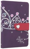 NLT My Beautiful Princess Bible Purple Crown Pink (Black Letter Edition)
