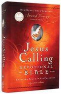 NKJV Jesus Calling Devotional Bible Hardback