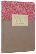 NLT Everyday Matters Bible For Women Rose Floral/Khaki Flexisoft