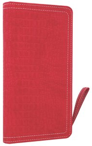 NIV Clutch Bible Hot Pink Duo-Tone (Red Letter Edition)