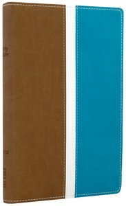 NIV Busy Family Bible Camel/Turquoise Duo-Tone