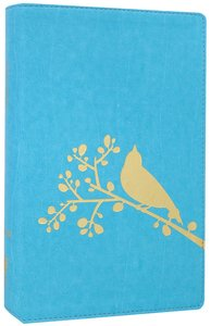 NIV Thinline Bible Flora and Fauna Song Bird Turquoise (Red Letter Edition)