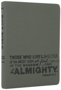 NLT Teen Slimline Bible Psalm 91 Charcoal (Red Letter Edition)