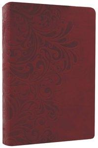 NKJV Study Bible Cranberry Leathersoft