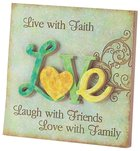Resin Plaque Love Homeware