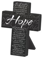 Mini Metal Message Cross: Hope Various Scriptures, Black Homeware