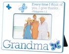 Photo Frame: Grandma, Butterflies, Blue Homeware