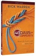 40 Days of Community (Study Guide) Paperback