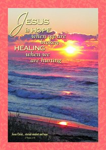 Poster Large: Jesus is Hope When We Are Broken