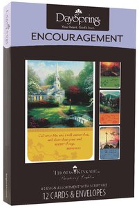 "Boxed Cards Encouragement: Thomas Kinkade - ""Painter of Light"""