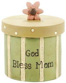 Blossom Bucket: God Bless Mum Trinket Box