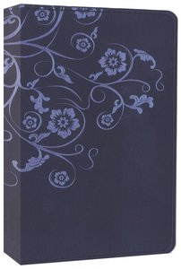NIV Compact Thinline Bible Flora and Fauna Flower/Vine Marina Blue (Red Letter Edition)