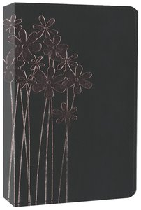 NIV Compact Thinline Bible Flora and Fauna Forget-Me-Knots Black/Pink (Red Letter Edition)
