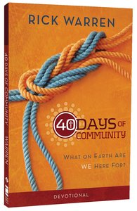 40 Days of Community: Better Together (Devotional Journal)