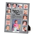 Photo Frame Collage Pewter: Baby's First Year Psalm 127:3
