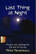 Last Thing At Night Paperback
