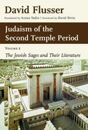 Judaism of the 2nd Temple Period Hardback
