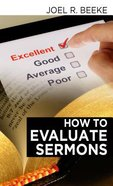 How to Evaluate Sermons? Paperback