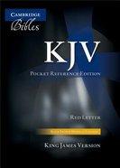 KJV Pocket Reference Edition Black Indexed (Red Letter Edition)