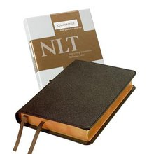 NLT Pitt Minion Reference Brown Goatskin Leather (Red Letter Edition)