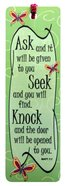 Bookmark With Tassel: Ask.. Seek.. Knock.. Stationery